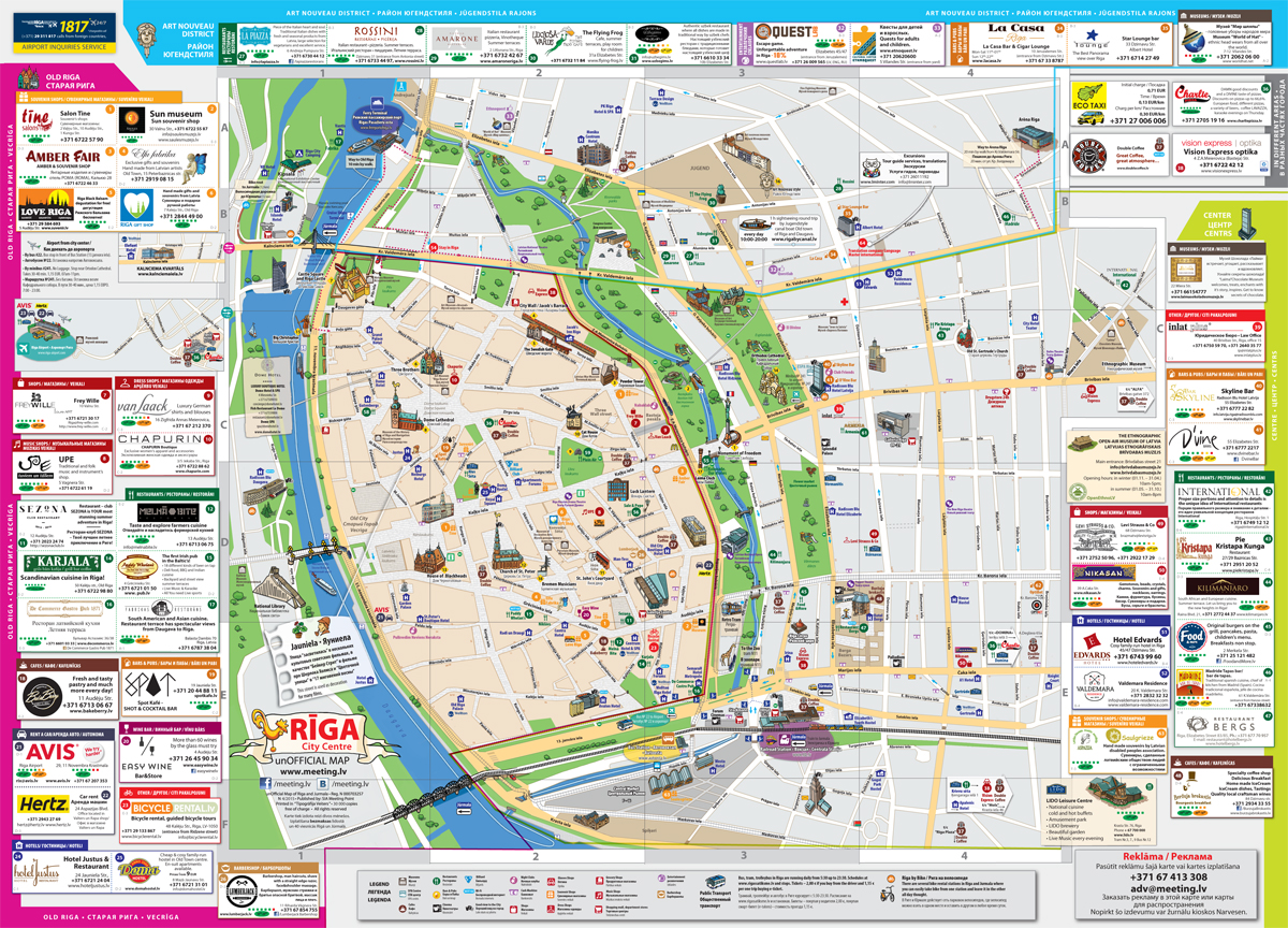 riga tourist map large riga maps for free download and print high