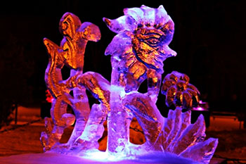 Фестиваль ледяных скульптур в Елгаве