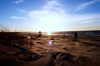 Beach in Ventspils, Latvia