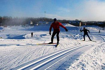 Skiing in Tartu