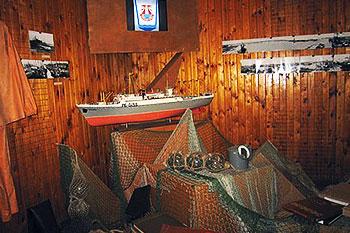 Marine open air museum in Ventspils, Latvia