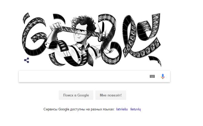Google посвятил дудл советскому «отцу монтажа» Сергею Эйзенштейну