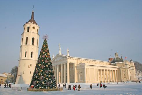 Новый год в Вильнюсе, Литве