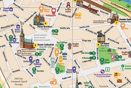неОфициальная карта Риги и Юрмалы