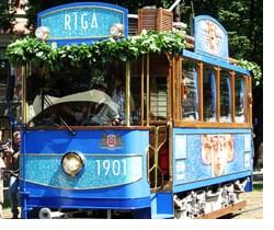 Рижский ретро-трамвай